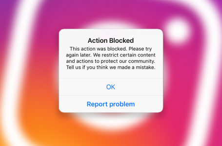 action blocked on instagram