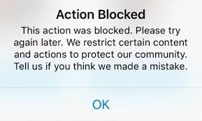 remove instagram action block