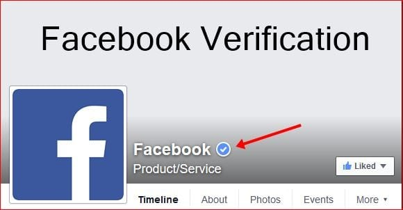 verified on facebook