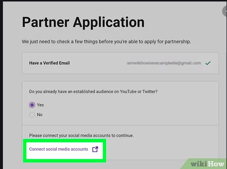 twitch partner application