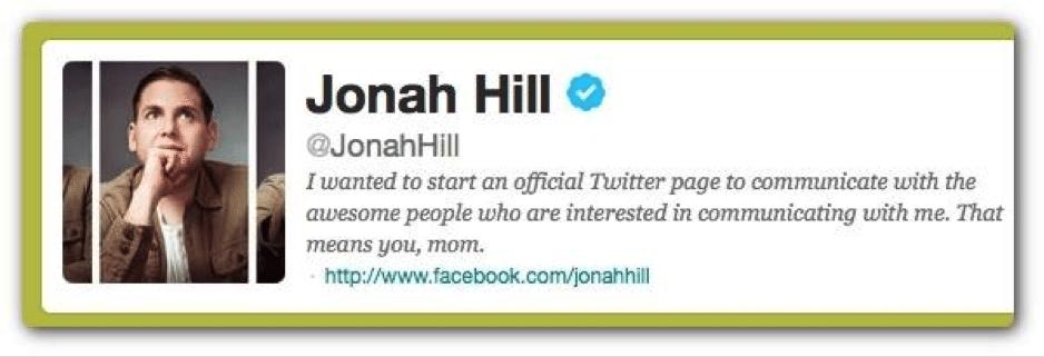 verified on twitter