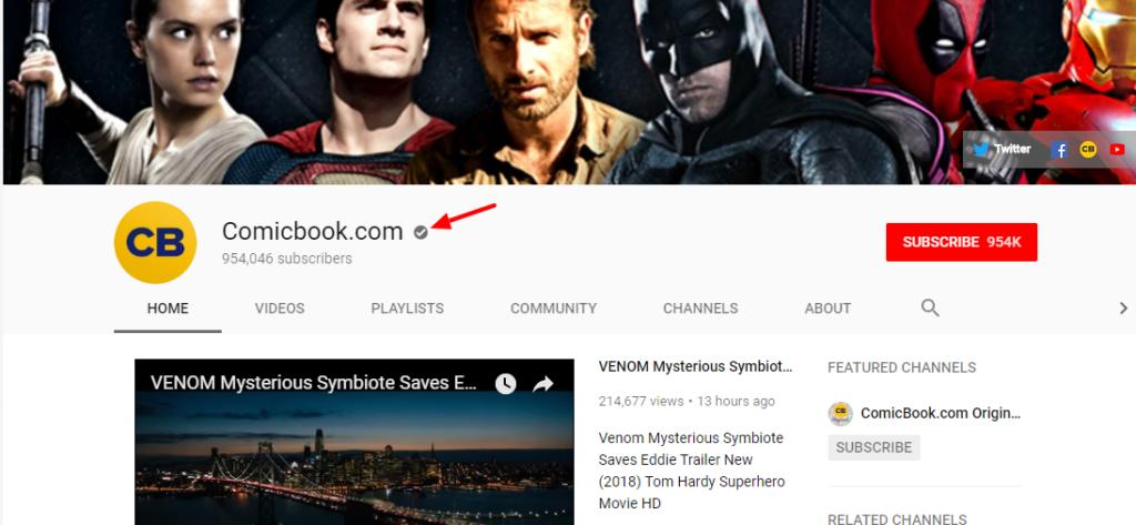 grey verification badge on youtube