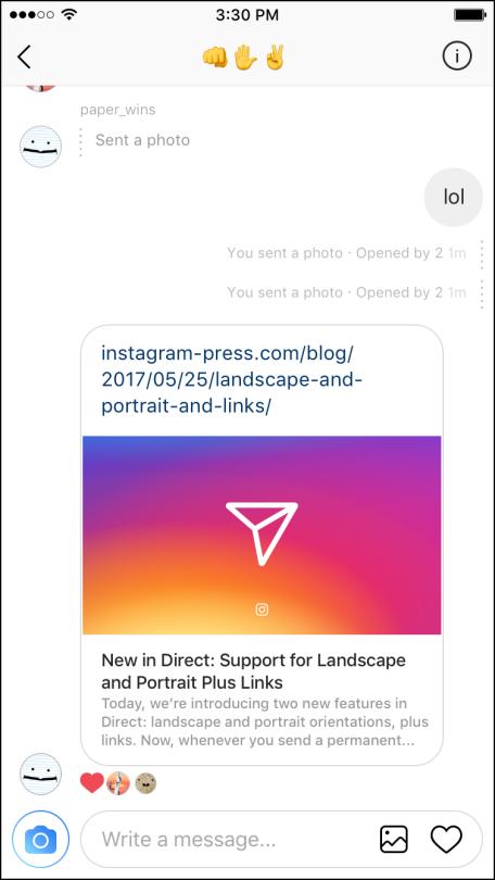 instagram story link